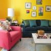 Жовтий колір в інтер'єрі вітальні - ваша особиста літо