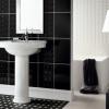 Чорно-біла ванна кімната: смугасті, шахові та інші ідеї