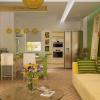 Дизайн невеликої міської кухні і вітальні