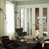 Темна підлога і світлі двері - гра відтінків в інтер'єрі