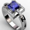 Як і з чим носити кільце з діамантами і сапфіром?