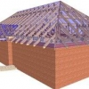 Розрахунок чотирьохскатним даху
