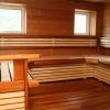 Обробка дерев'яних полиць в лазні