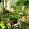 Облаштування садової клумби