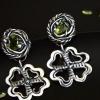 Чарівні срібні сережки з хризолітом
