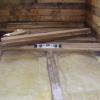 Підлоги з бруса в гаражі
