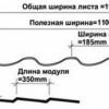 Розрахунок металочерепиці