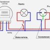 Схема установки розеток і вимикача
