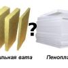Порівняння матеріалів для утеплення будинку - мінвата і пінопласт
