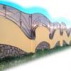 Будівництво паркану з профнастилу зі стовпами із цегли