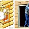 Технологія установки вікон в зруб