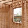 Усадка дерев'яних стін каркасної лазні
