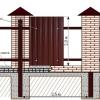 Варіанти установки паркану з профнастилу